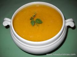 Sopa Crema de Calabazas y Puerros