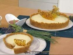 Tarta Blanca Con Lavanda