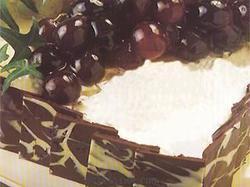 Delicia de Chocolate Blanco y Uvas