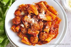 Pork And Veal Bolognese With Rigatoni