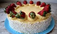 White brigadeiro cake