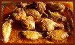 Alitas de Pollo BaÑadas en Jarabe de Arce