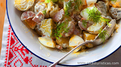 Warm Potato Salad With Knackwurst