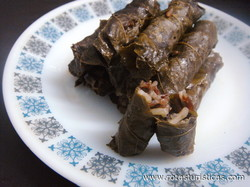 Grape Vine Leaves Stuffed With Beef And Rice (warak Inab)
