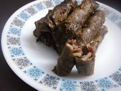 Grape Vine Leaves Stuffed With Beef And Rice (warak Inab)
