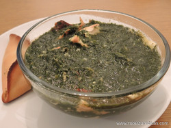 Chicken Soup With Mallow And Rice (molokhia)