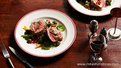 Grilled Lamb Loin With Capsicum And Olives (filet D