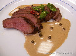 Duck Fillet With Porcini Mushrooms And Green Peppercorn Sauce (filet de Canard Aux Cèpes, Sauce au Poivre Vert)