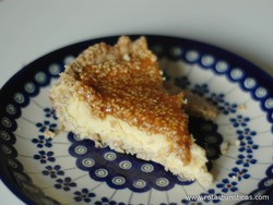 Sesame Cheesecake (myzithropita Hyti)