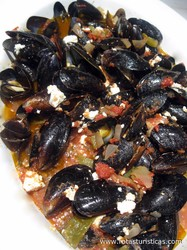 Mussels Saganaki With Ouzo And Feta