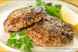 Greek Beef Burgers (mpiftekia)