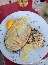 Swordfish With Lemon, Garlic And Olive Marinade