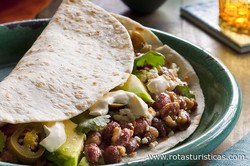 Tortillas With Cheese, Beans And Chorizo (baleadas)
