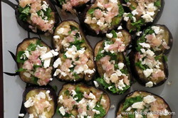 Grilled Eggplant With Marinated Feta