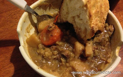 Irish Lamb And Stout Stew With Soda Bread Crust
