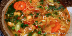 Nepalese Chicken Noodle Soup (thukpa)