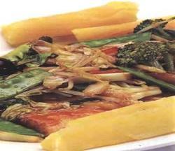 Doncella Salteada Con Verduras