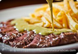 Sirloin Steaks With Cafe de Manilla Butter