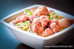 Crispy-fried Pork Belly With Sticky Tomato Shrimp Paste Sauce (binagoongang Baboy)