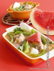 Watermelon Sour Soup (sinigang sa Pakwan)