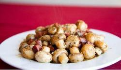 Cogumelos Salteados Com Bacon