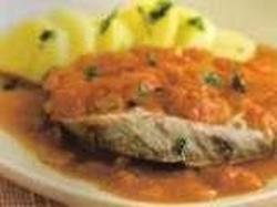 Bifes de Atum Com Tomate