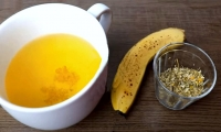 Banana tea with chamomile