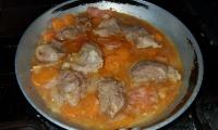 Bochechas de porco estufadas