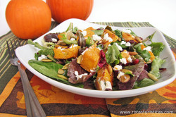 Roast Pumpkin Salad With Spinach And Goat's Cheese (rostad Pumpa Med Spenat Och Getost)