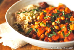 Tunisian Vegetable And Chickpea Tagine