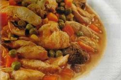 Guiso de Pollo Con Pimientos y Tomates