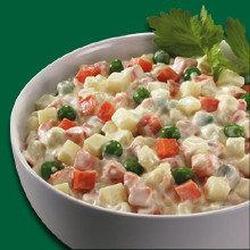 Krabovi Salat - Ensalada de Cangrejo Rusa