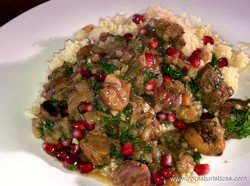 Lamb Stew With Chestnuts And Pomegranates