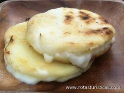 Grilled Cornbread Stuffed With Cheese (arepas de Queso)